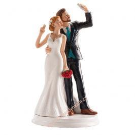 Figurka na dort - ženich a nevěsta selfie