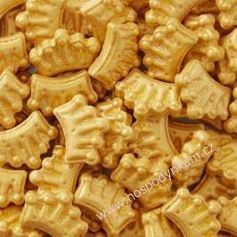 Cukrové zdobení Wilton - zlaté korunky 56g