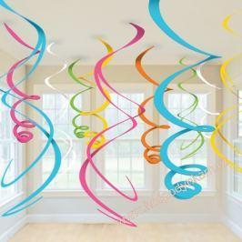 Závěsná dekorace Barevné spirály
