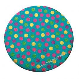 Culpitt Kulatý tác modrý s puntíky 25cm