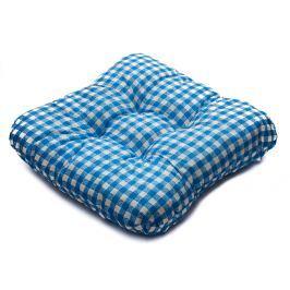 TP Sedák na židli 40x40 Molitanový Modrobílé kostičky