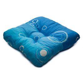 TP Sedák na židli 40x40 Molitanový Modré bubliny