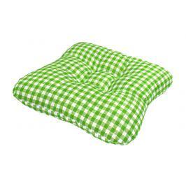 TP Sedák na židli 40x40 Molitanový Zelenobílé kostičky