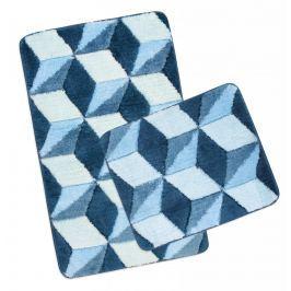 Koupelnová a WC předložka ULTRA modrá krychle
