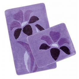 Koupelnová a WC předložka ULTRA fialová kytka