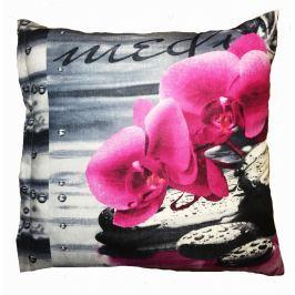 TOP Povlak na polštářek Orchidei 3D 40x40
