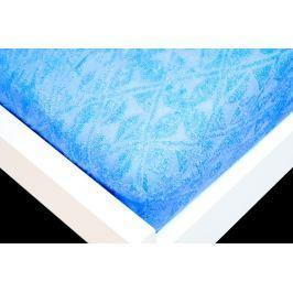 TP Žakárové prostěradlo (160 x 200) Premium - Modrá
