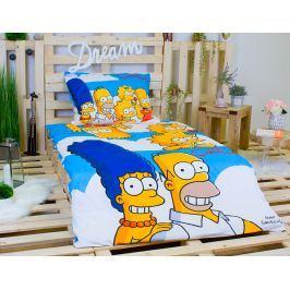 Dětské bavlněné povlečení Simpsonovi rodinka 140x200+70x90