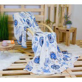 TOP Mikroflanelová deka 230 x 200 - Modrý květ