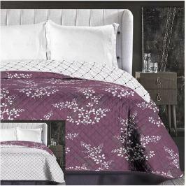 TOP Prošívaný dekorační přehoz 240x260 Calluna fialová