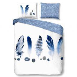 TOP Bavlněné povlečení Good morning 140x200/220+60x70 Feathers blue