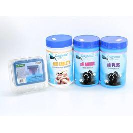 II.Základní set na bezchlorové ošetření vody (OXI tablety, pH-, pH+, tester)