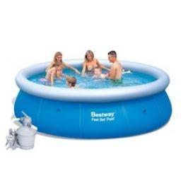 Bazén Bestway 4,57 x 1,07m set + písková filtrace 3,7m3/hod