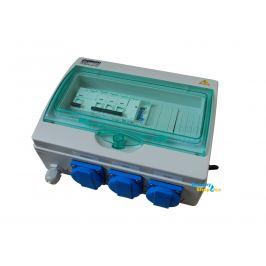 Rozvaděč F1 ovládání filtrace, UV lampy, topení