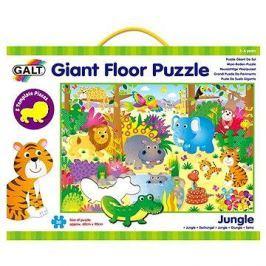 30 Velké podlahové puzzle – zvířátka v džungli
