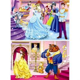 Disney Princezny: Popelka a Kráska 2x66 dílků