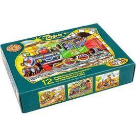 Topa dřevěné kostky kubus - Mašinka 12 ks