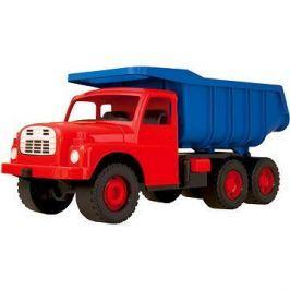 Auto Tatra 148 plast 73cm v krabici červená kabina modrá korba T148
