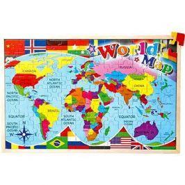 Vkládací puzzle - Mapa světa