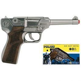 Policejní pistole stříbrná
