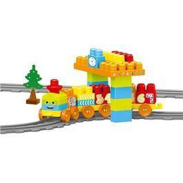DOLU Dětská vlaková souprava, 58 ks