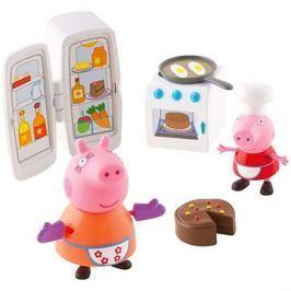 Prasátko Peppa - Kuchyňská sada + 2 figurky