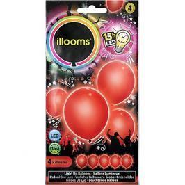 LED balónky - červené 4 ks