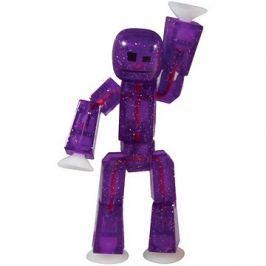 Epline Stikbot figurka – fialová s třpytkami