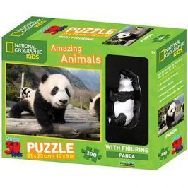National Geographic 3D Puzzle s figurkou Panda