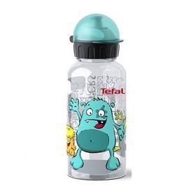 TEFAL KIDS láhev tritan 0.4 l tyrkysová-příšerka