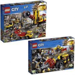 LEGO City 60186 Důlní těžební stroj + LEGO City 60188 Důl