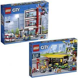 LEGO City 60204 Nemocnice + LEGO City Town 60154 Zastávka autobusu
