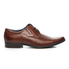 HNĚDÉ KOŽENÉ POLOBOTKY Pánská obuv