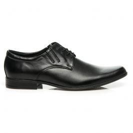ČERNÉ KOŽENÉ POLOBOTKY Pánská obuv