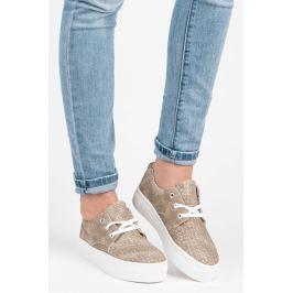 AŽUROVÉ TRAMPKY NA PLATFORMĚ Dámská obuv