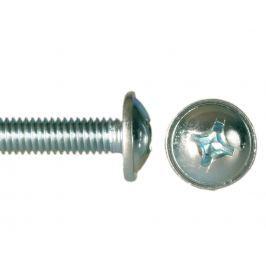 Šroub půlk. hl. s límcem (okrasný) kříž ZB, DIN 967 -  M4x25