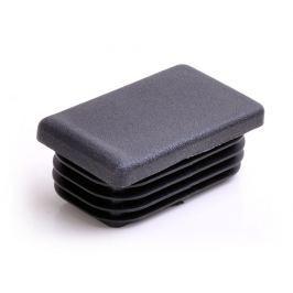 Záslepka obdélníková rovná černá - 40x25x1-3mm