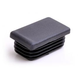 Záslepka obdélníková rovná černá - 120x60x2-4mm