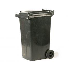 Popelnice plastová 240l s kolečky - černá