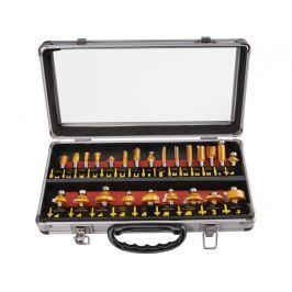 Sada tvarových fréz 8mm SK plátky 24ks + kufr Extol Premium 44039