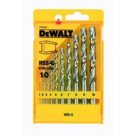 Sada vrtáků do kovu HSS-G 10ks 1-10mm DeWalt DT5921