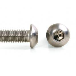Šroub button imbus nerez A2, ISO 7380, půlkulatá hlava - M4x10