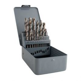 Sada vrtáků do kovu HSS-G vybrušovaných 25ks 1-13/0,5mm kovová kazeta