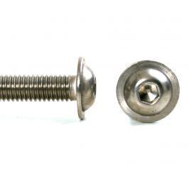 Šroub button+límec nerez A2, ISO 7380FL - 6x80