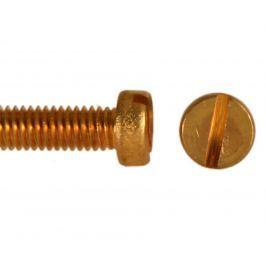 Šroub válcová hl. drážka mosaz, DIN 84 - M4x10