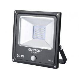 Reflektor LED IP65 Extol Light - 20 W/1400 lm + čidlo