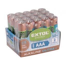 Baterie Extol alkalické 20ks LR03 (AAA, mikrotužka)