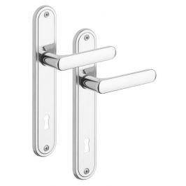Rostex Exclusive dveřní kování - klika-klika pro klíč 72mm Nerez Mat