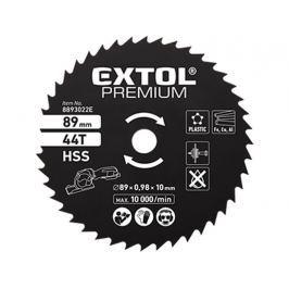 Kotouč pilový HSS 89x1x10mm 44T Extol Premium 8893022E