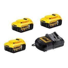 DeWALT DCB115P3 sada nabíječky a baterií 18V XR Li-Ion s kapacitou 5,0Ah